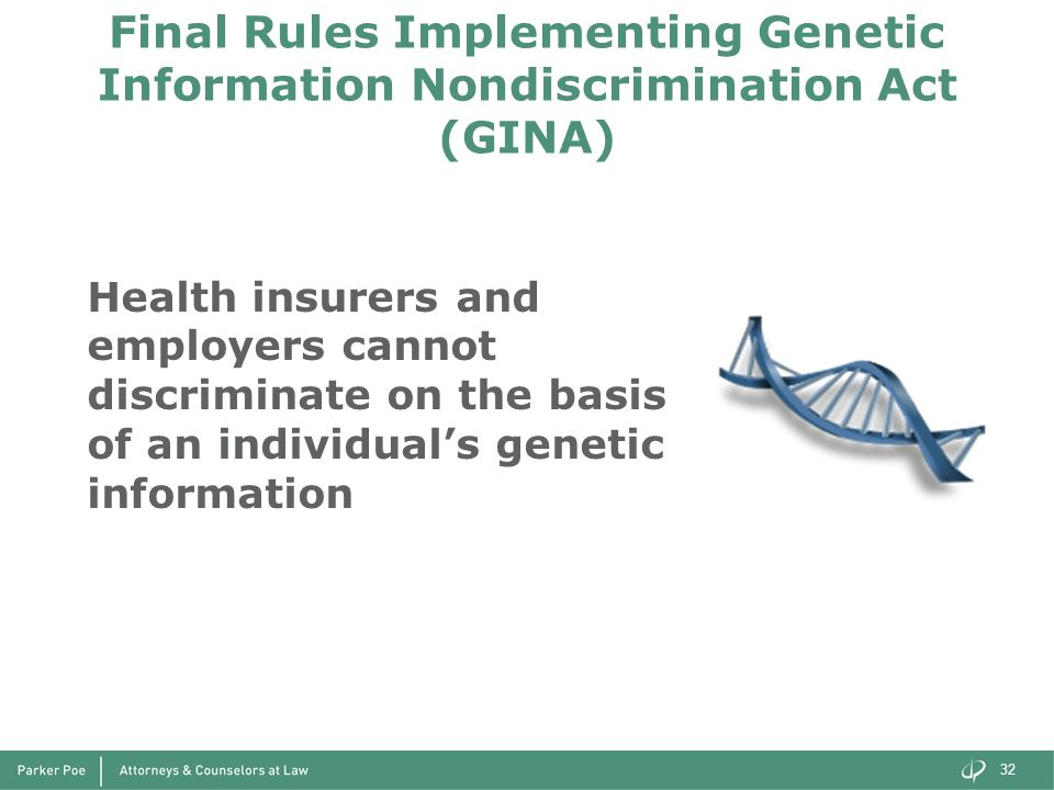 Final Rules Implementing Genetic Information Nondiscrimination Act (GINA)