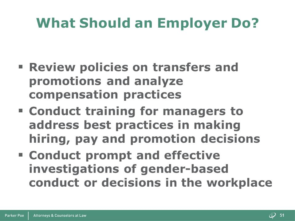 What Should an Employer Do