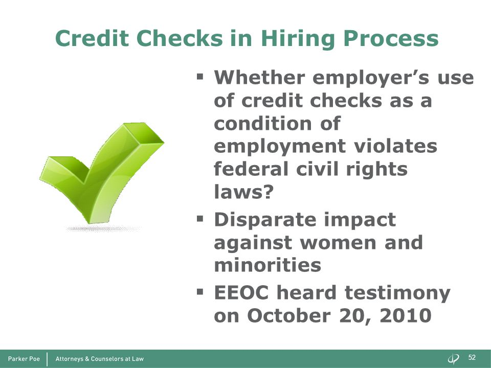 Credit Checks in Hiring Process
