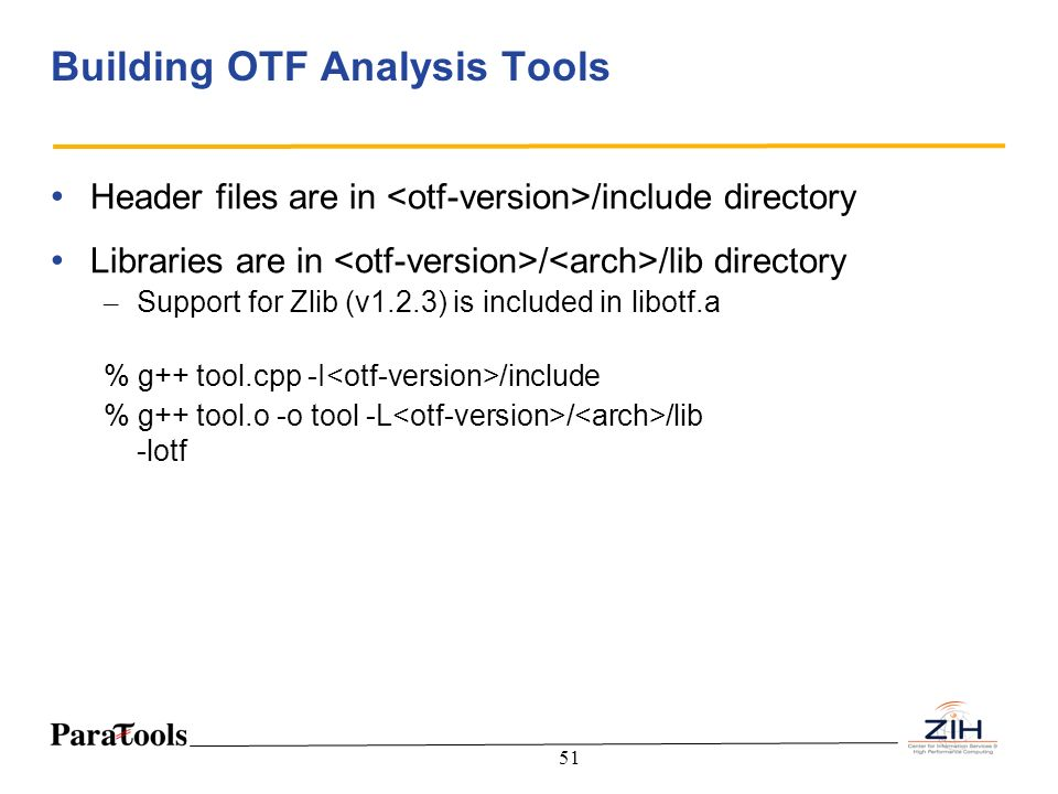 Building OTF Analysis Tools