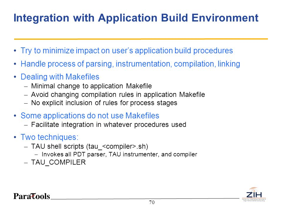 Integration with Application Build Environment
