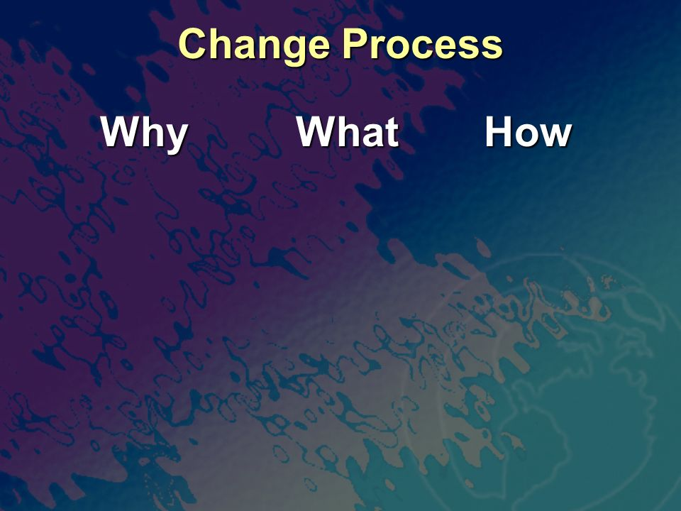 Change Process Why What How