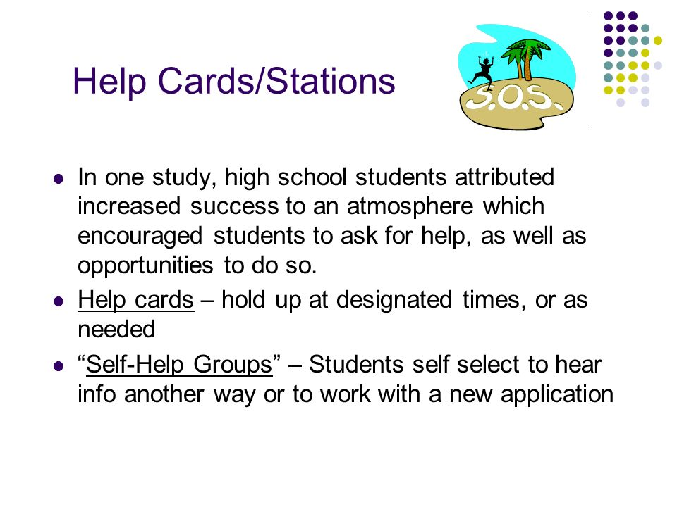 Help Cards/Stations