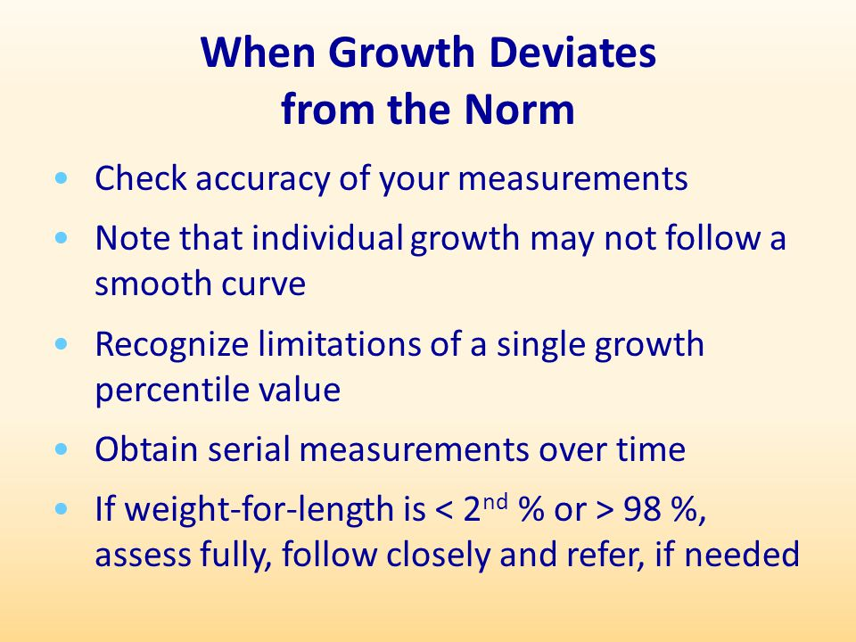 When Growth Deviates from the Norm