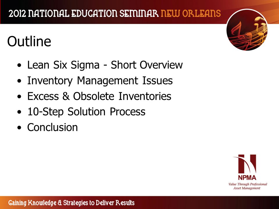Lean Six Sigma Techniques for Inventory Management - ppt