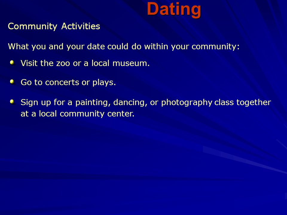 Dating Community Activities