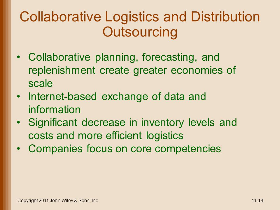 Collaborative Logistics and Distribution Outsourcing