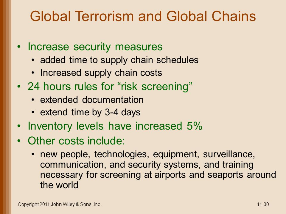 Global Terrorism and Global Chains
