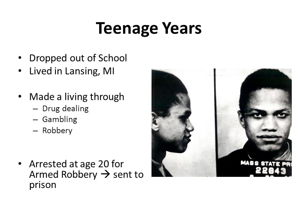 Teenage Years Dropped out of School Lived in Lansing, MI