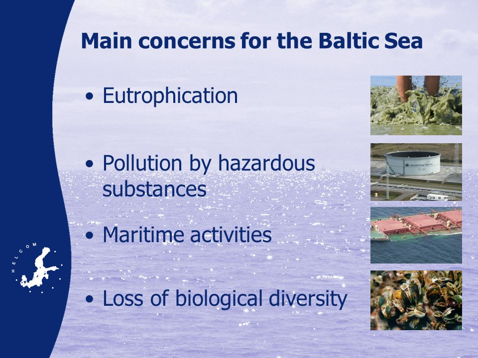 Main concerns for the Baltic Sea