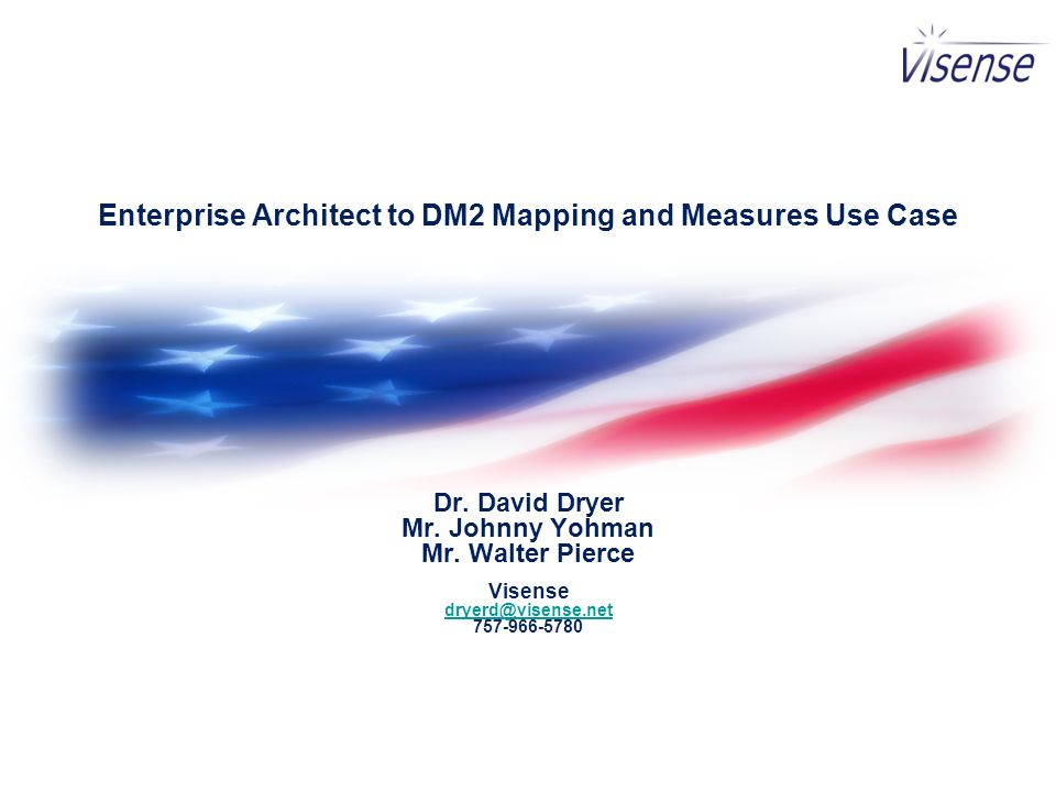 Enterprise Architect to DM2 Mapping and Measures Use Case