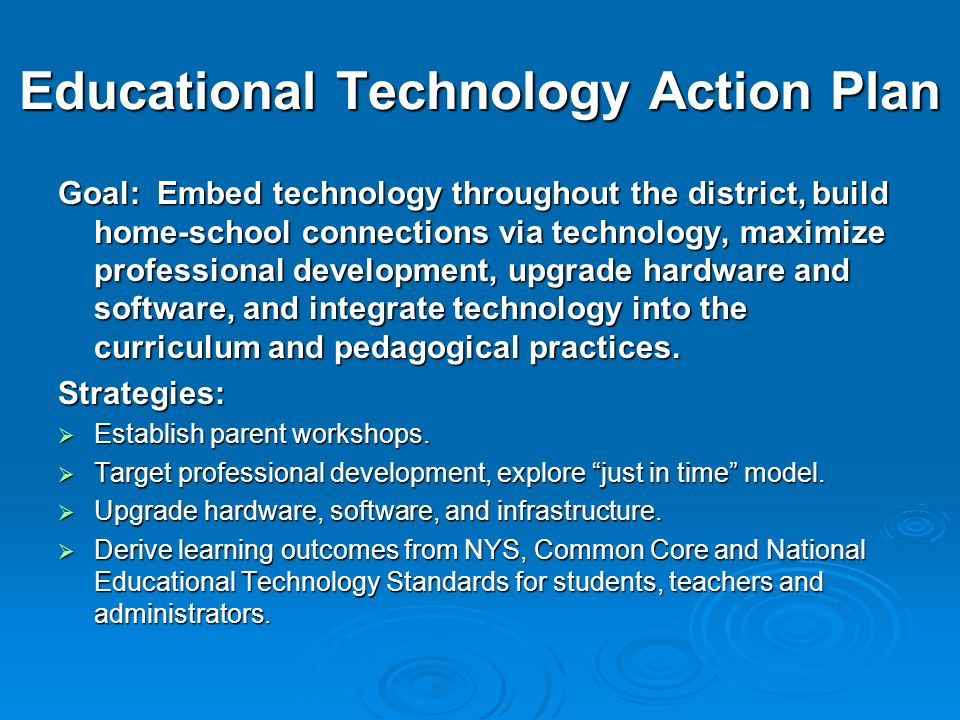 Educational Technology Action Plan