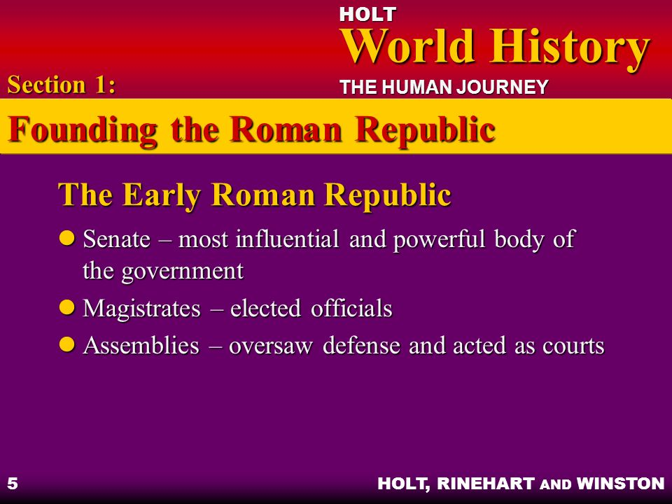 The Early Roman Republic