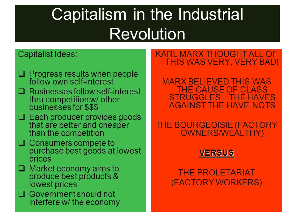 Capitalism in the Industrial Revolution