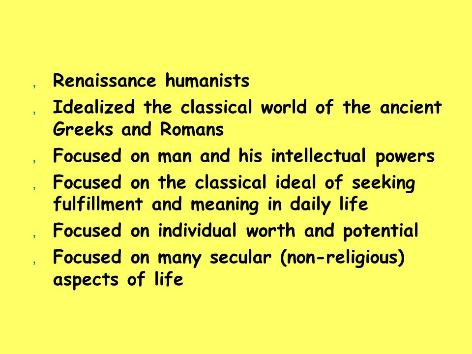 Renaissance humanists