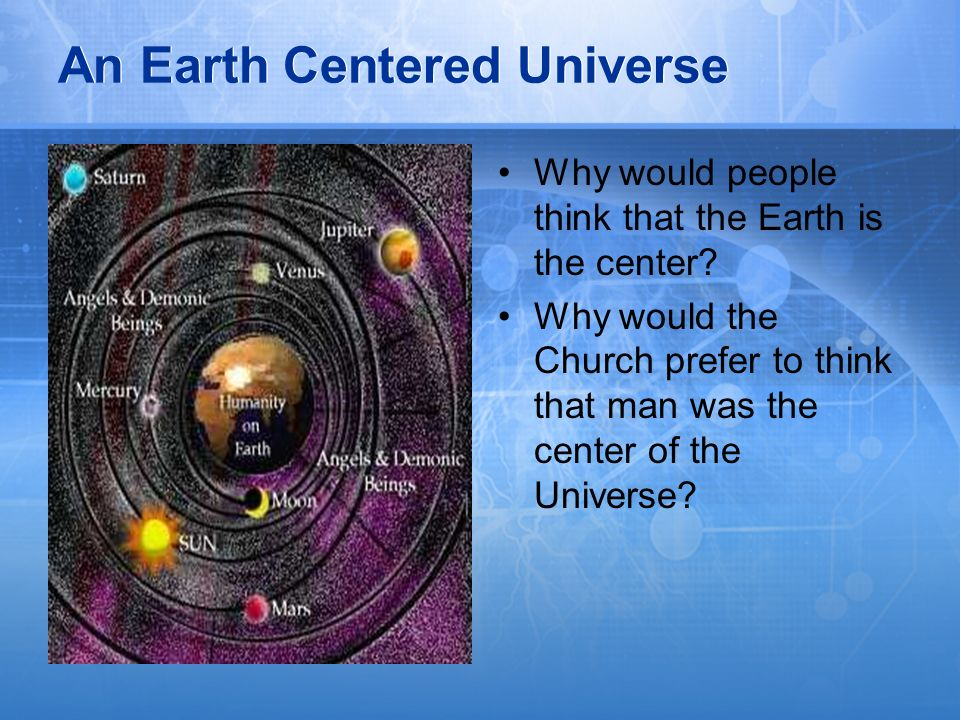 An Earth Centered Universe
