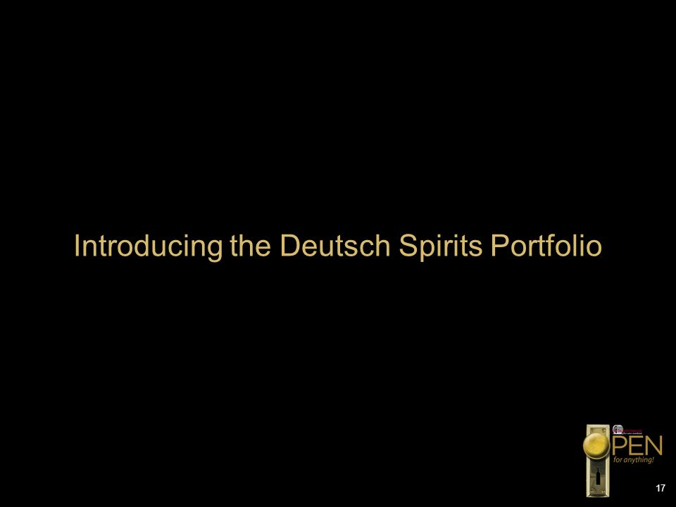 Introducing the Deutsch Spirits Portfolio