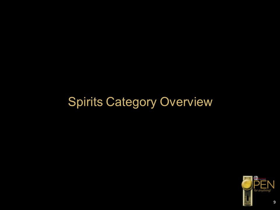 Spirits Category Overview