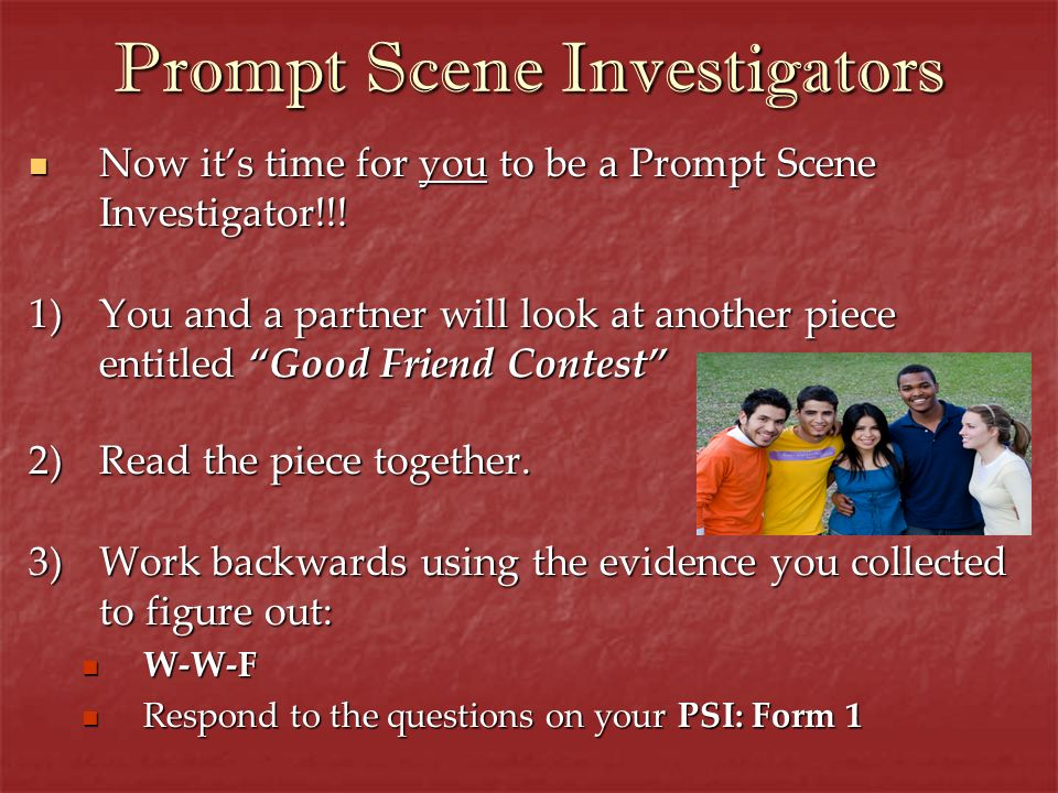 Prompt Scene Investigators