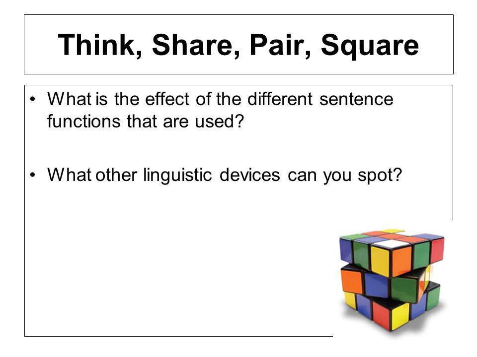 Think, Share, Pair, Square