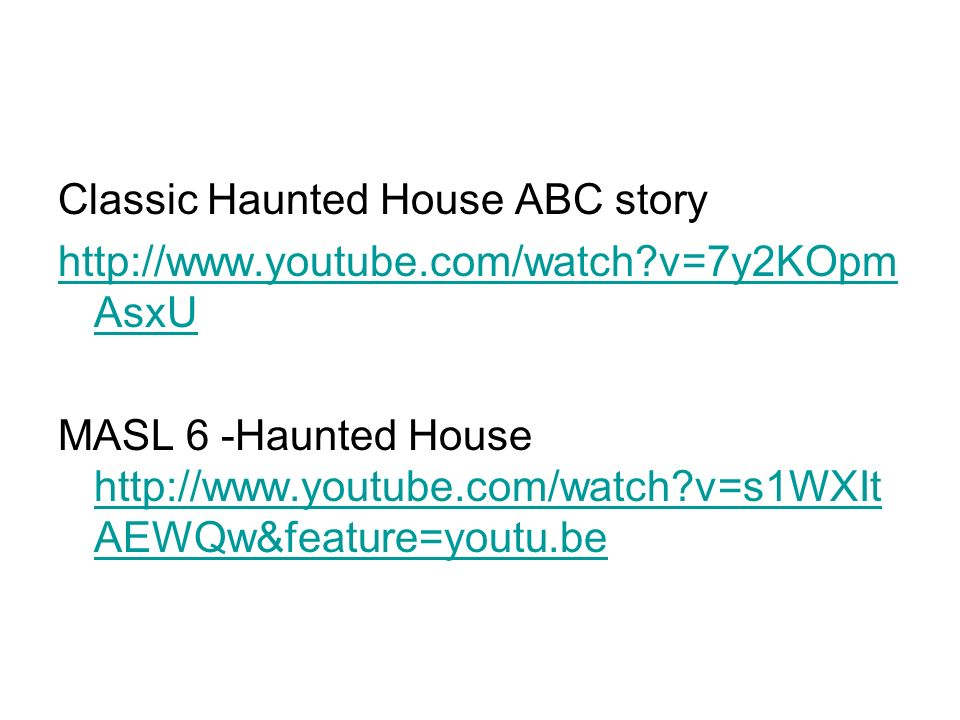Classic Haunted House ABC story