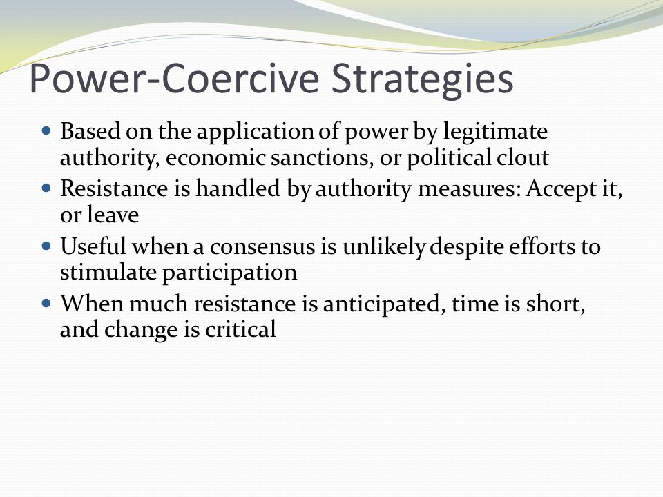 Power-Coercive Strategies