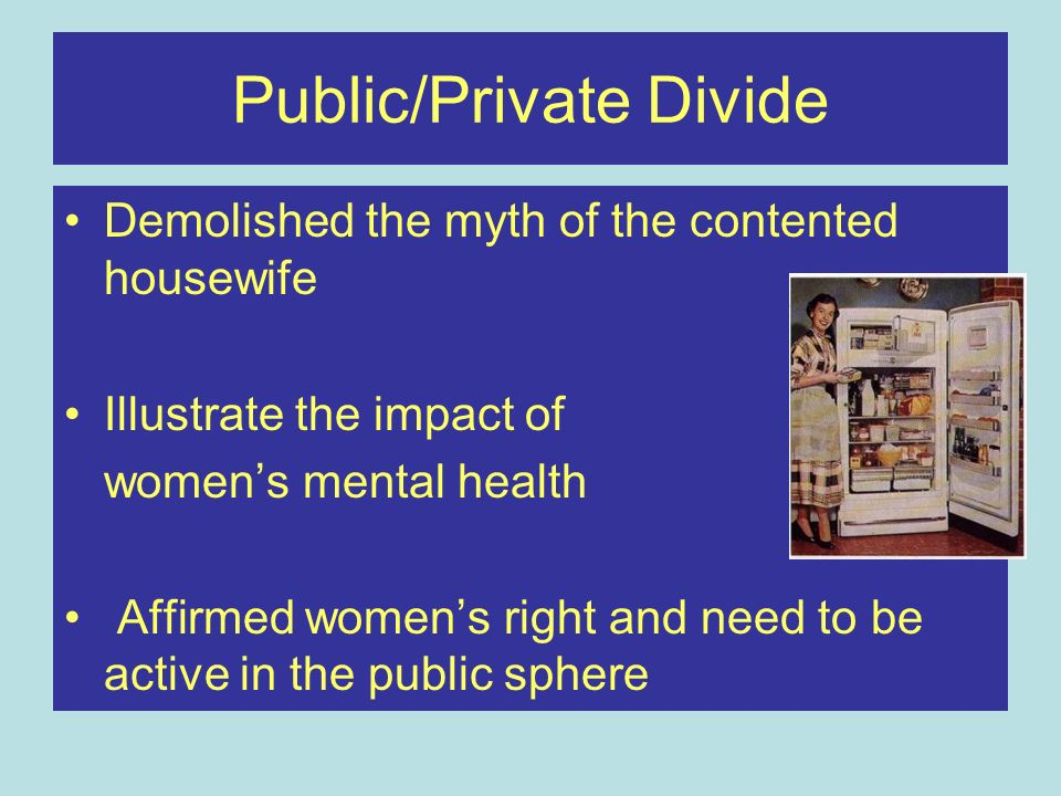 Public/Private Divide