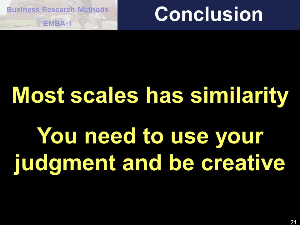 Most scales has similarity