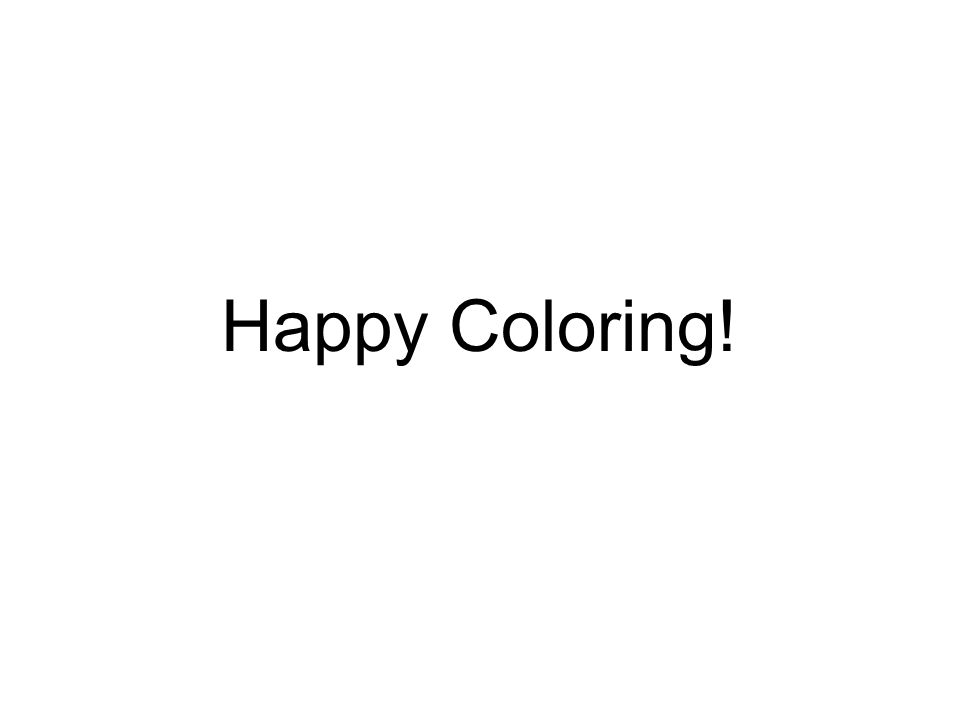 Happy Coloring!