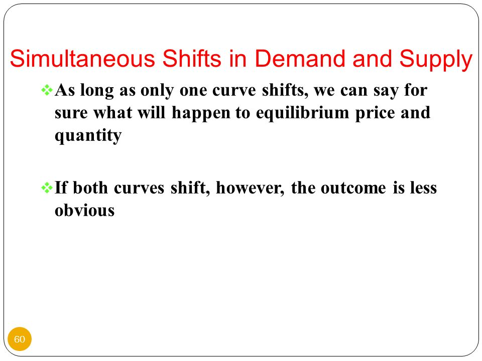 Simultaneous Shifts in Demand and Supply