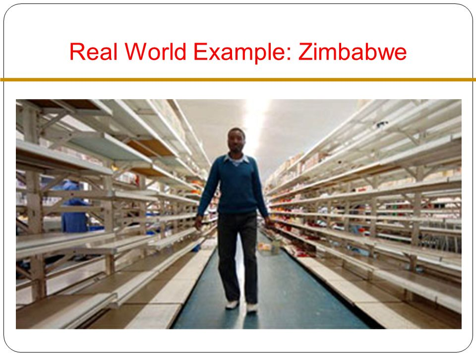Real World Example: Zimbabwe