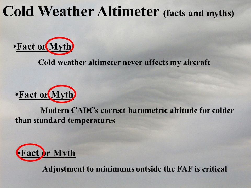 Cold Weather Altimeter (facts and myths)