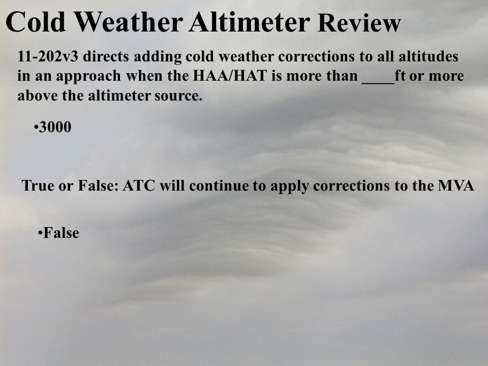Cold Weather Altimeter Review