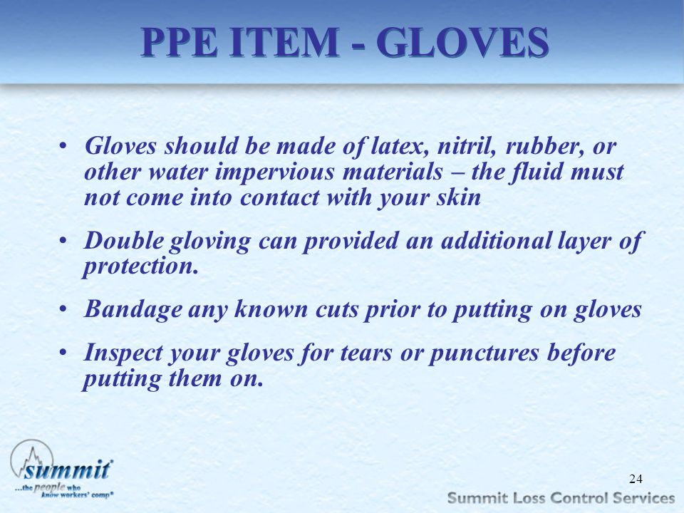 PPE ITEM - GLOVES