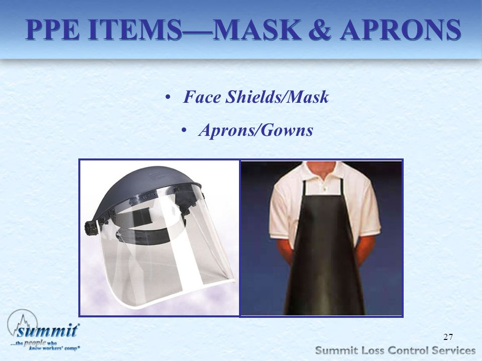 PPE ITEMS—MASK & APRONS