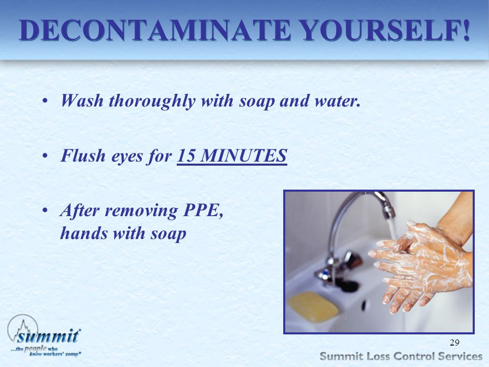 DECONTAMINATE YOURSELF!
