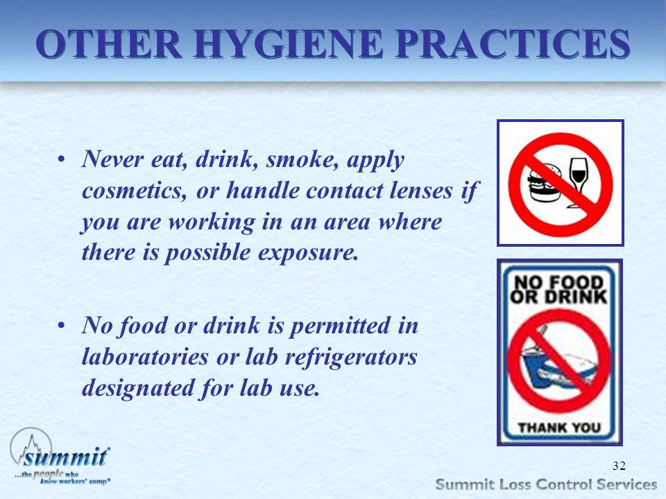 OTHER HYGIENE PRACTICES