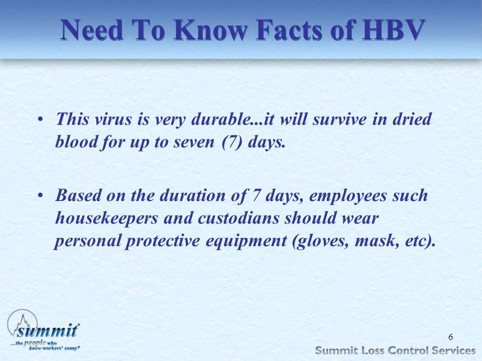 Need To Know Facts of HBV
