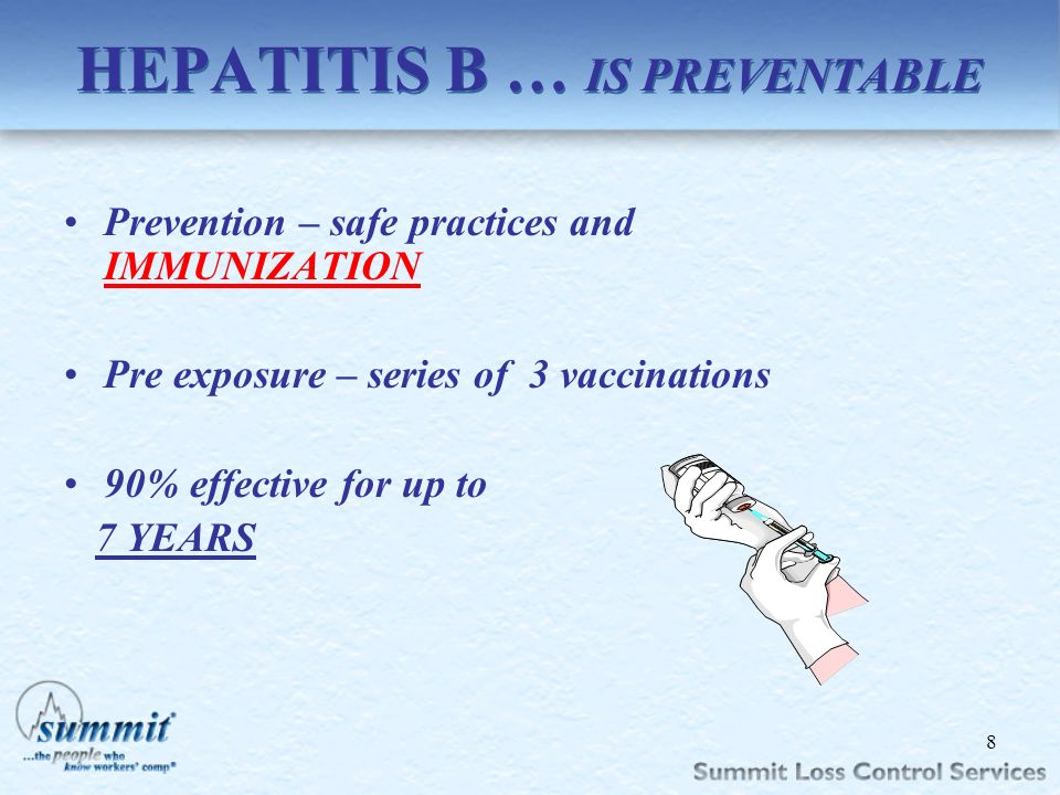 HEPATITIS B … IS PREVENTABLE