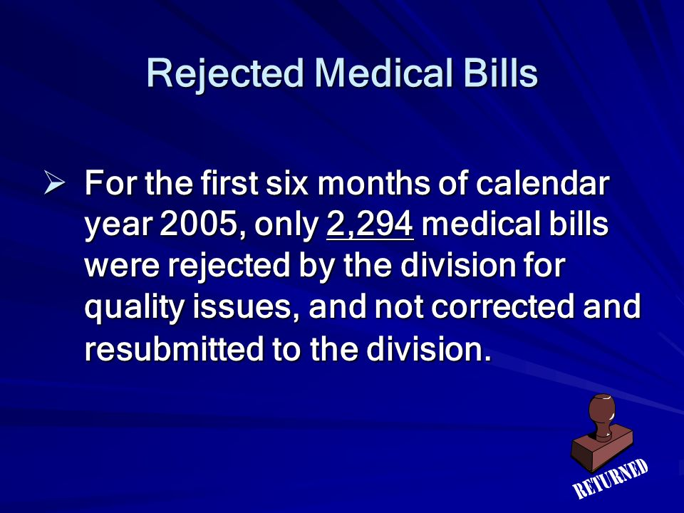 Rejected Medical Bills