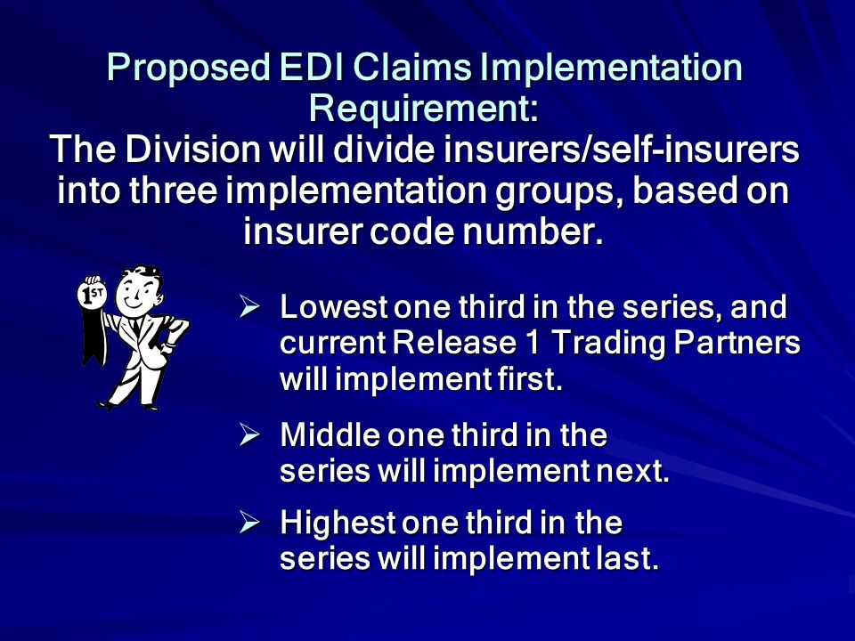 Proposed EDI Claims Implementation Requirement: