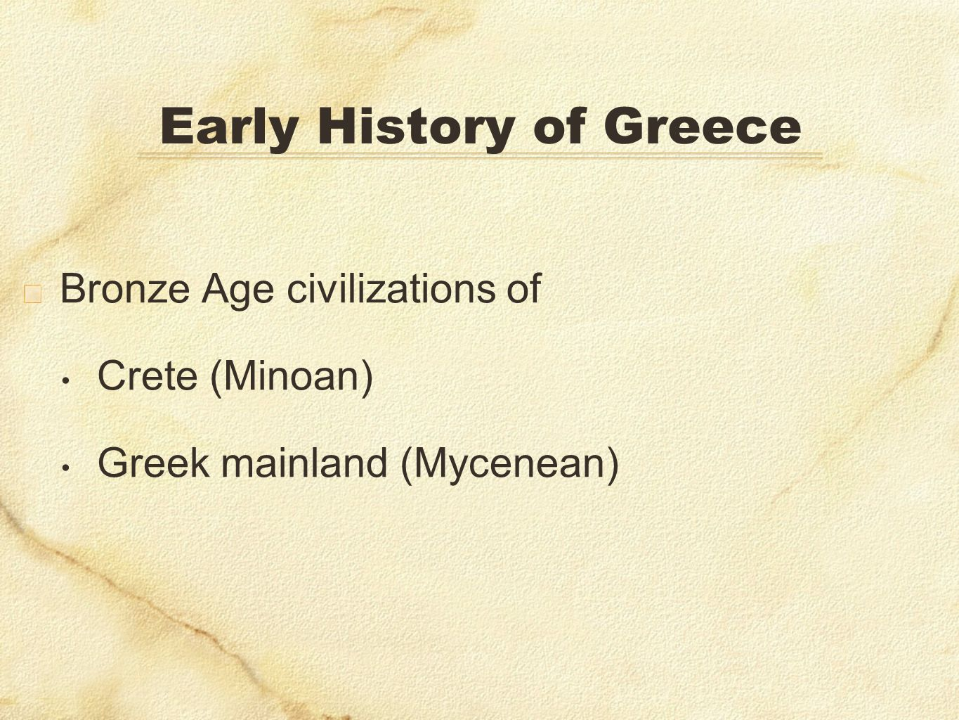 Early History of Greece