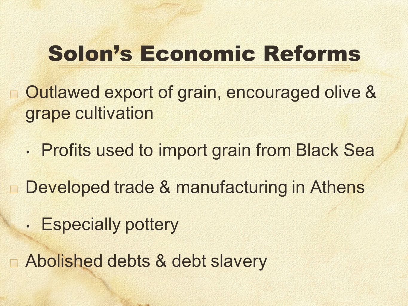Solon's Economic Reforms