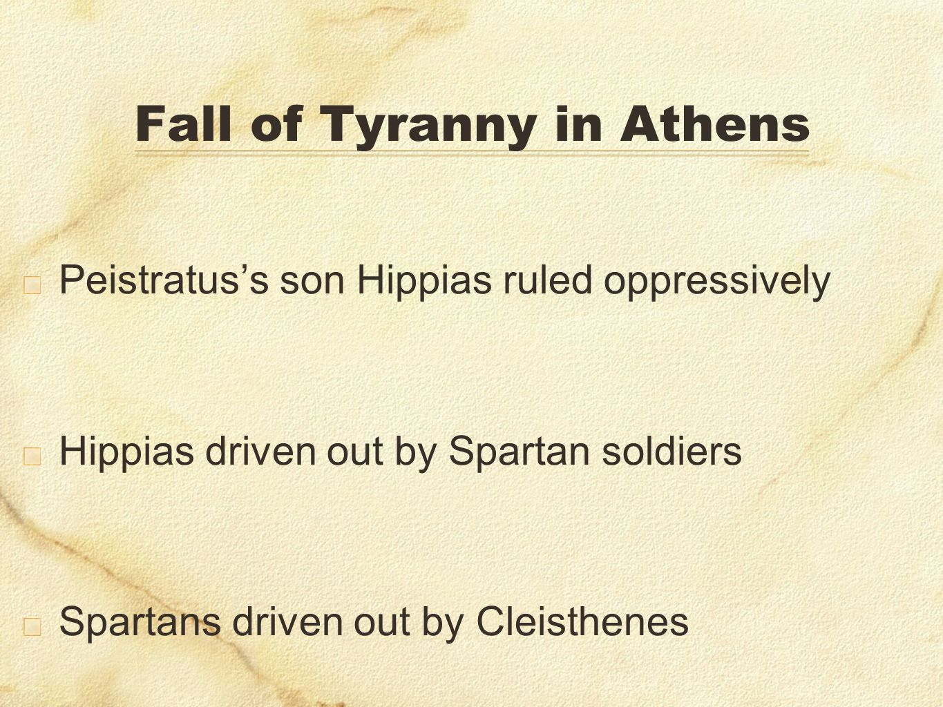 Fall of Tyranny in Athens