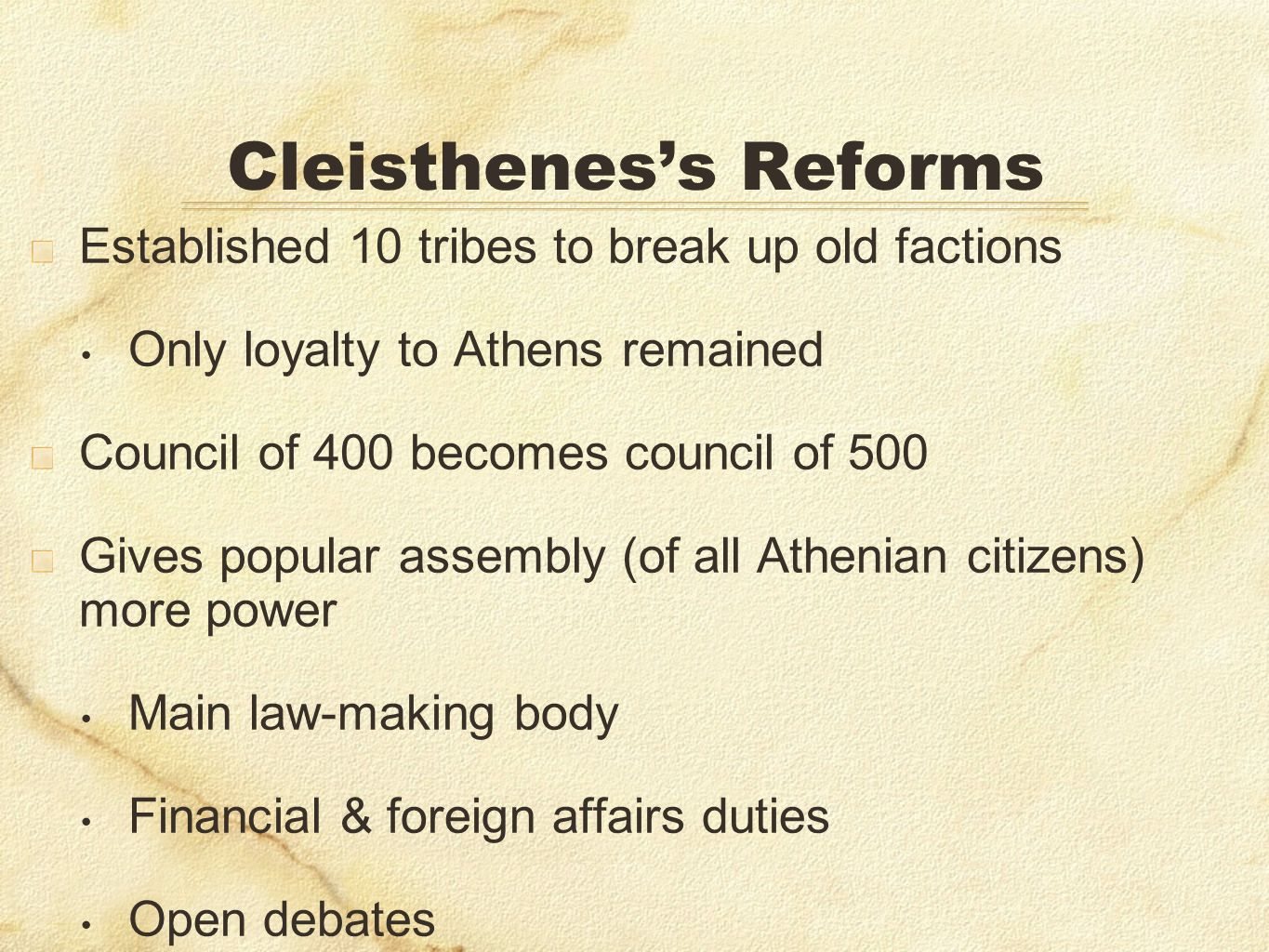 Cleisthenes's Reforms