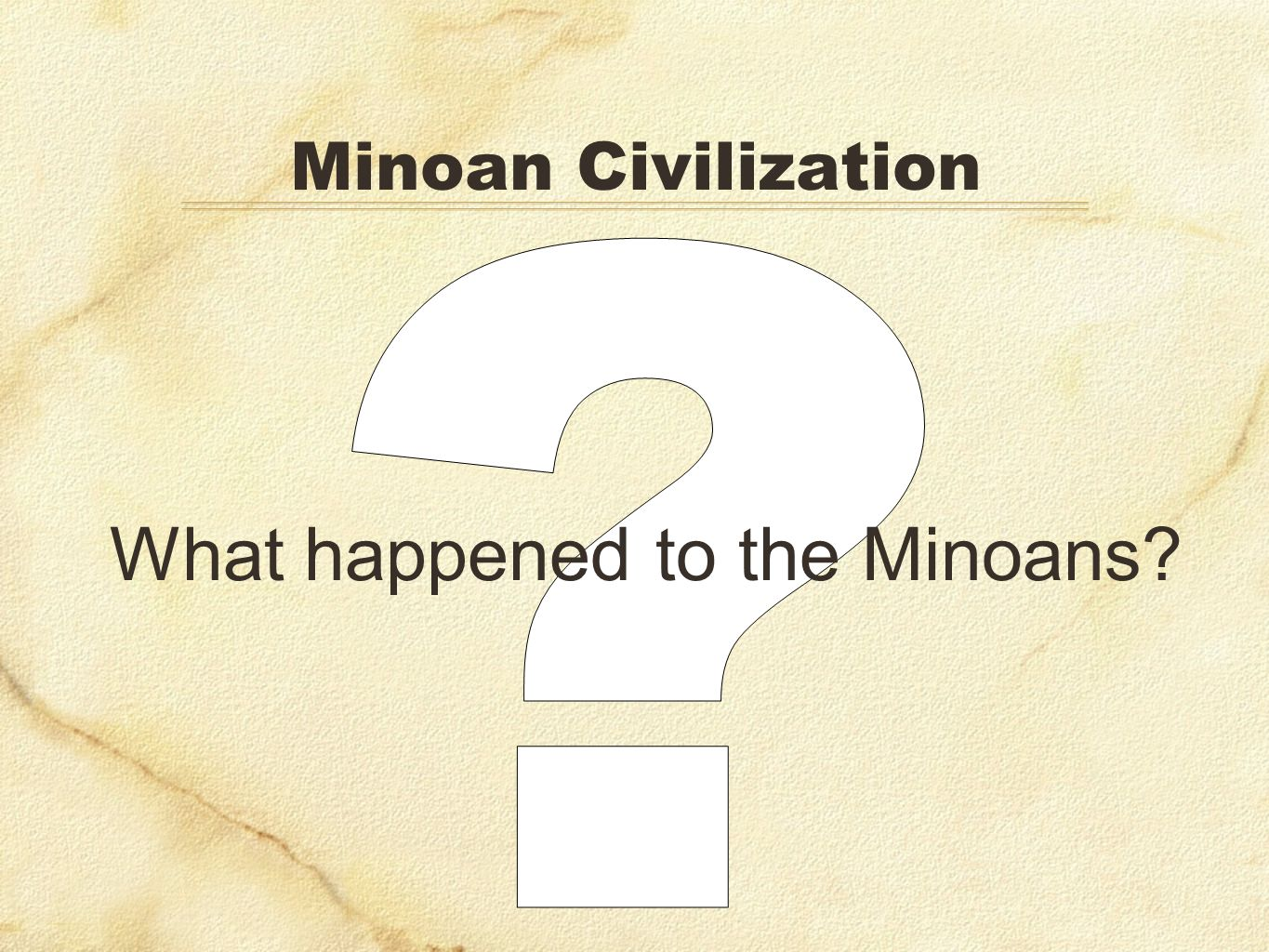 What happened to the Minoans