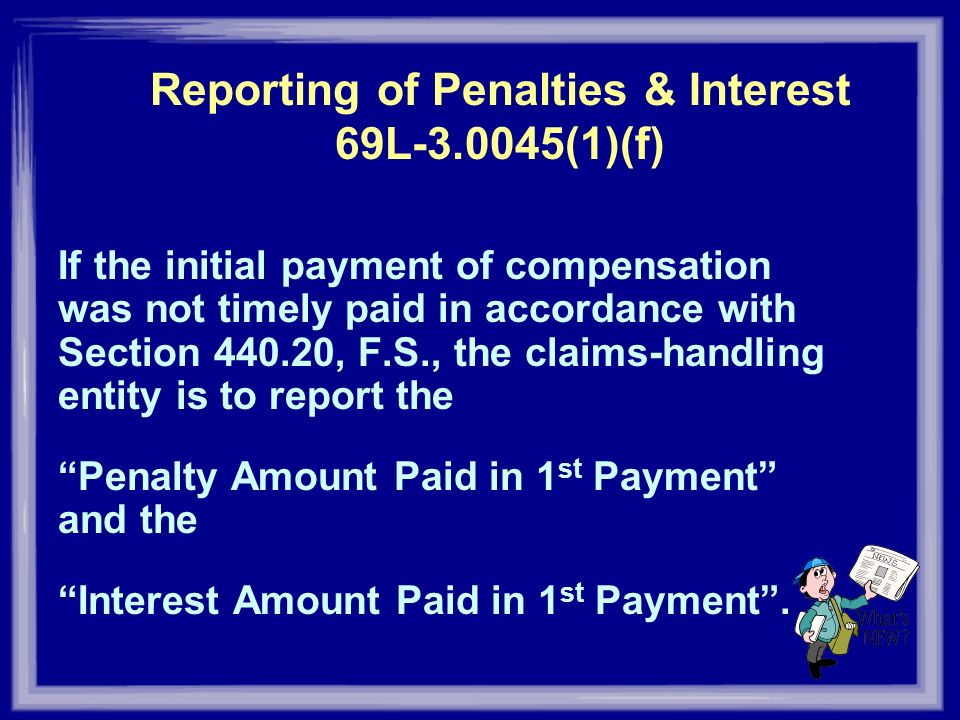 Reporting of Penalties & Interest 69L (1)(f)