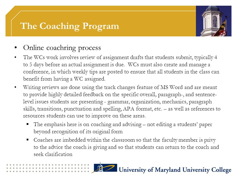 The Coaching Program Online coachring process