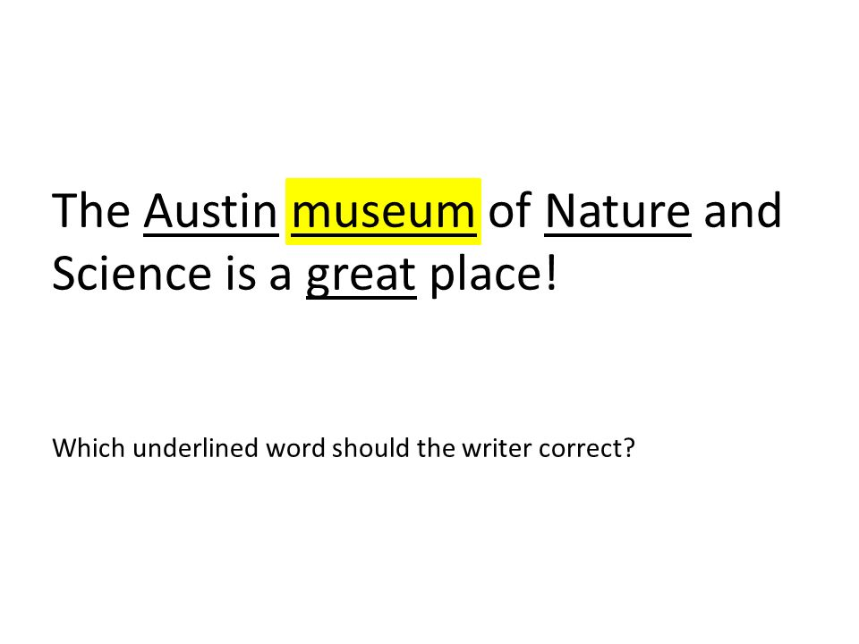 The Austin museum of Nature and Science is a great place
