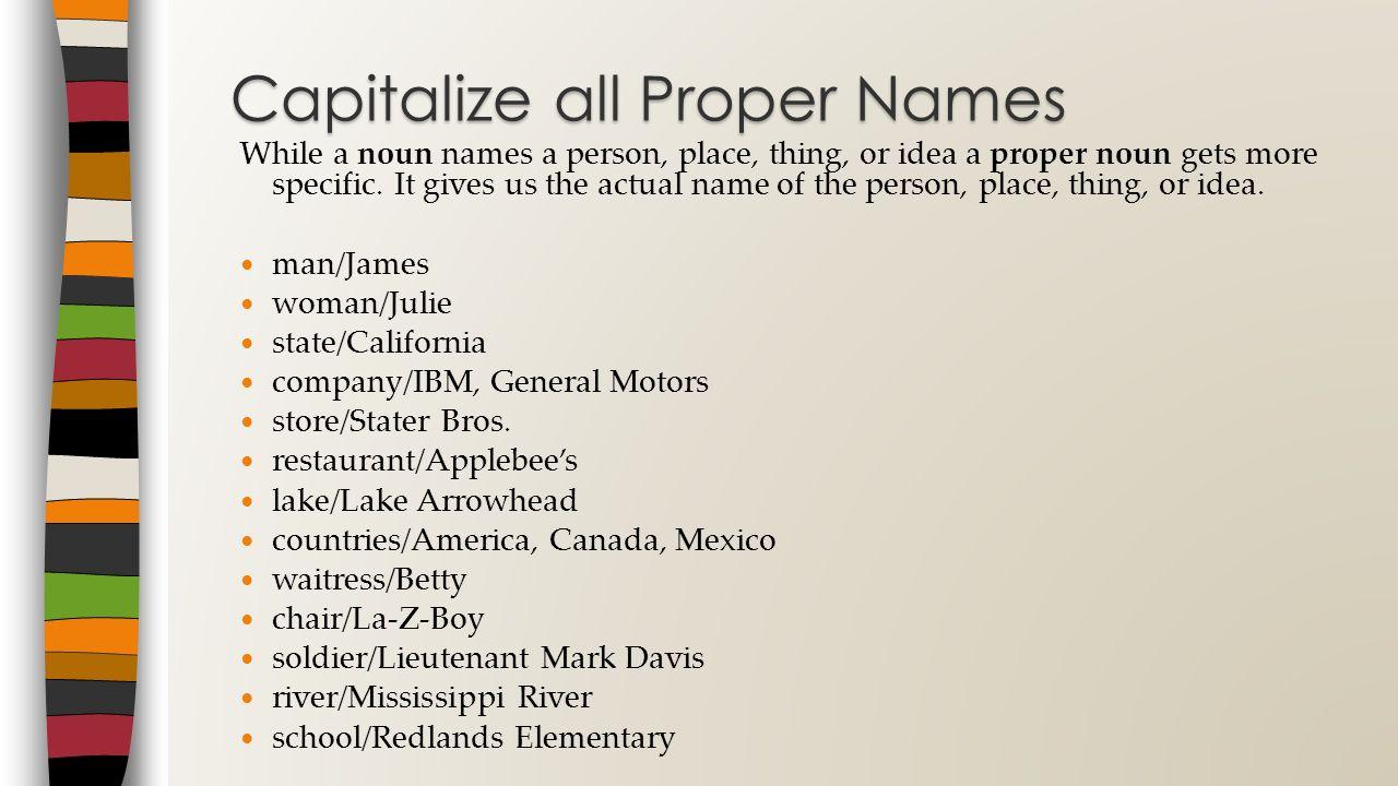 Second Grade Capitals Standard WC 1.6 Capitalization Capitalize ...